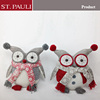 12inch new item handmade crafts Christmas owl family decoration