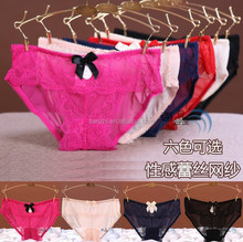 New Arrival Hot Girls Sexy G-string V-string Lace Ribbon Underwear Panty