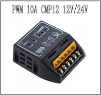 10 A cmp12 pwm solar charge controller regulator