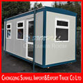 Outdoor mobile and convenient transformed container office