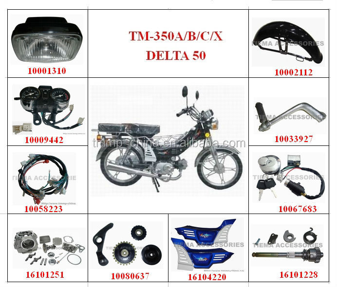 TM-350A/B/C/X DELTA50 motorcycle spare parts