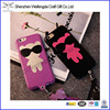 Korea cute little bear leather neck mobile phone cover for iphone 6 6s