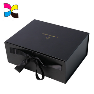 Alibaba good supplier eco-friendly recycle paper packing jewelry black gift box