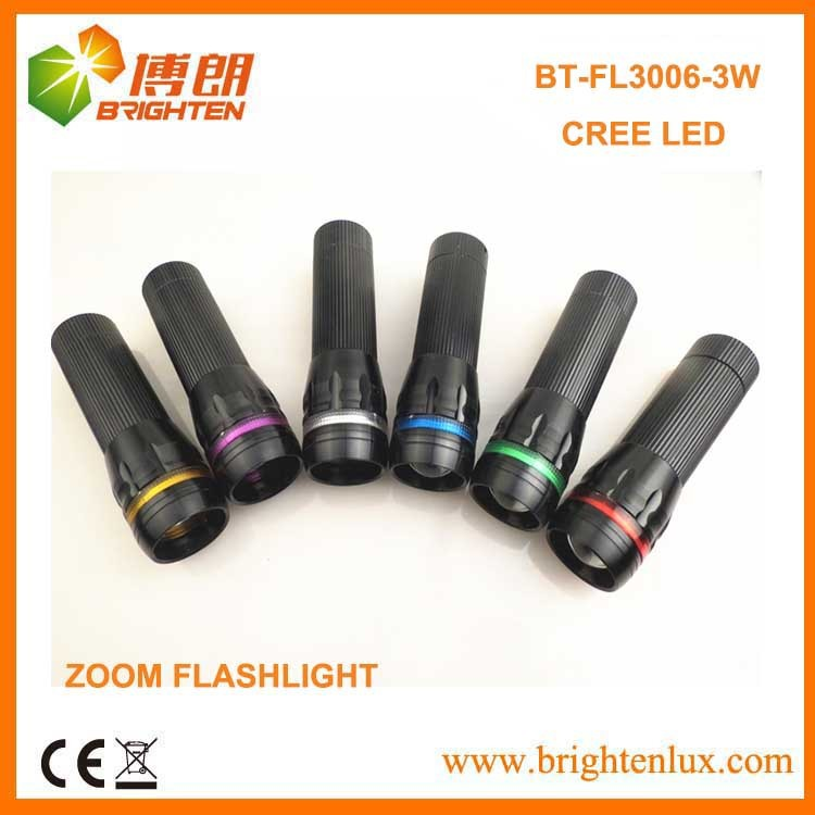 OEM Logo Aluminum Zoom Dimmer Cree led strong flashlight