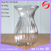 wholesale different types glass vase hyacinth water plant vase