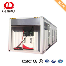 Skid-mounted refueling device mobile container gas petrol station