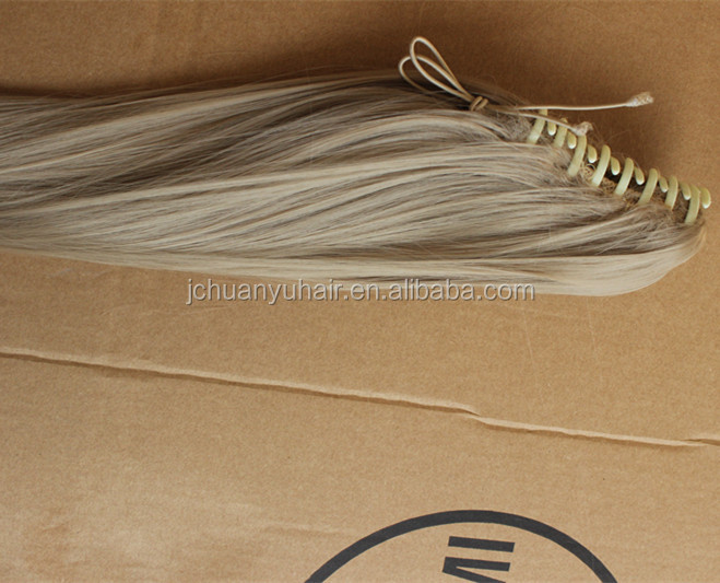 synthetic hair clip Ponytail 200g 28""