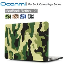 Camouflage Laptop Body Shell Protective Rubberized Hard Case for Apple Macbook 12 Inch With Retina Display A1534
