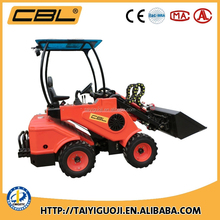 4WD powerful mini wheel front tractor loader with CE and EPA certification