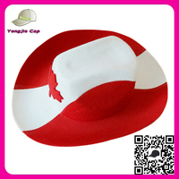 2016 Promotional World Cup football Caps and hats Cheapest non-woven fabrics design your own cowboy hat