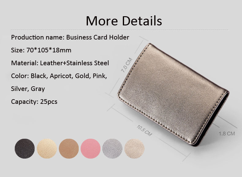 hot sale simple leather card holder flat card pocket PU leather credit card holder