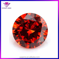 Charming loose small gemstones orange red star cut ebay hot sell loose gemstone