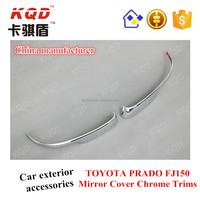 Car accessories in China ABS Mirror cover chrome trim for TOYOTA land cruiser prado to 4*4 car exterior accessories