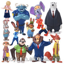 12 pcs/set PVC Zootopia figures plastic 3.5 inch movie action figure Crazy Animal City toys for kids