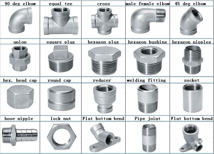 Stainless steel pipe fittings bsp threaded inch lock