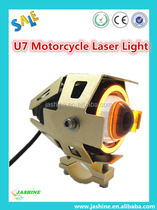 2015 High Quality!!! Waterproof 25w 3000lm 12V-80v Transformers U7 CRE LED Snowmobile Motorcycle Headlight Laser Light