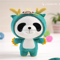 Zodiac Strong panda in classical dragon plush chinese toy