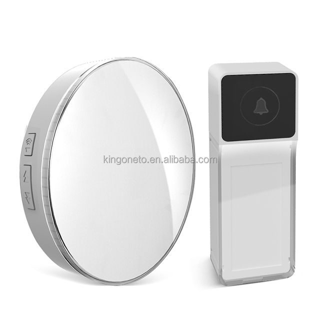 2017 kingoneto hot sale wireless doorbell D1 Easily install remote working distance 433MHZ working frequence chime AC / DC power