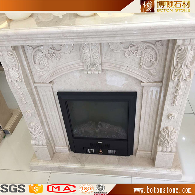 Indoor used classic marble fireplace mantel