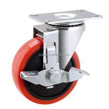 "2.5-5"" trolley dolly casters with strong load capacity"