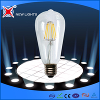 Indoor lighting filament 8W ST64 E27 E26 B22 led filament bulb energy saving light bulb