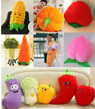 Lovely Fruit Vegetable Plush Doll Pillow Cute Cushion Toy for Birthday Gift