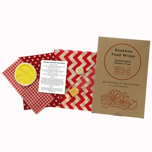 Bees Wrap Assorted 3 Pack Eco Friendly Reusable Beeswax Food Wraps 1 Small,1 Medium,1 Large