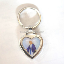 zinc alloy metal type sticker heart shape mirror london keychain ,zinc-alloy,one side sticker with expoy