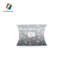 Custom printed high quality pillow shape apple pie packaging heatproof box candy paper food box