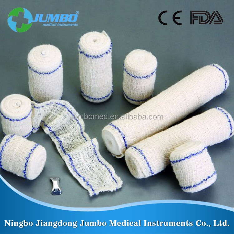 Alibaba online shopping sales recycled 100% cotton material soft Elastic Crepe Bandage