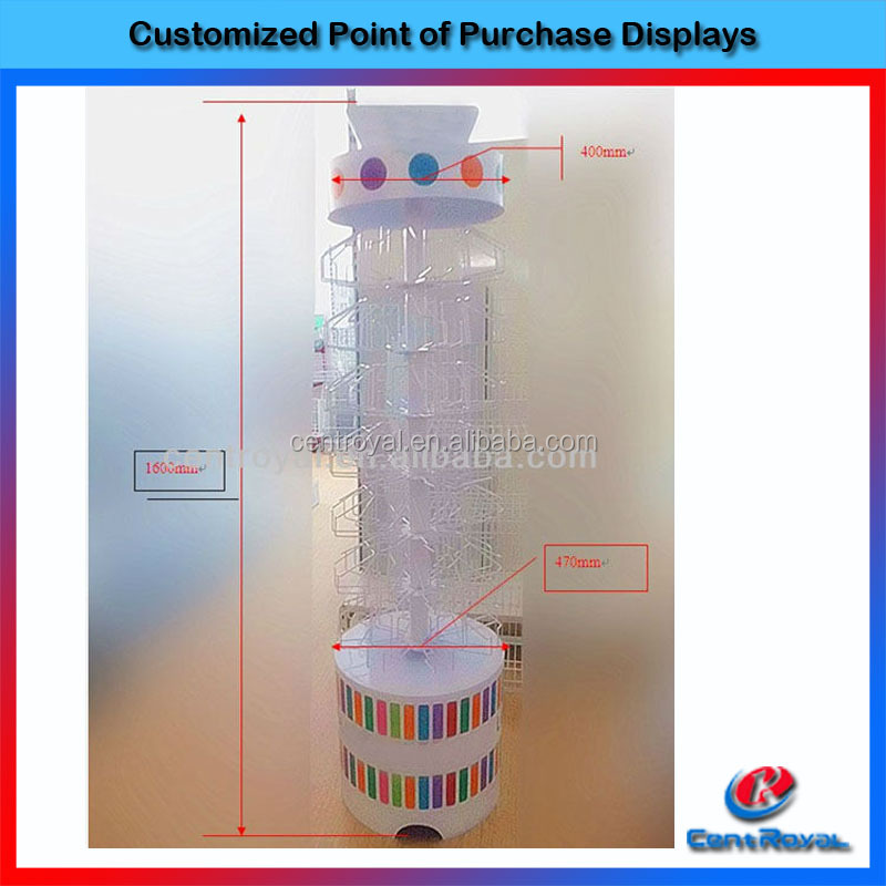 Metal wire display rack for small products hot selling wire grid display rack