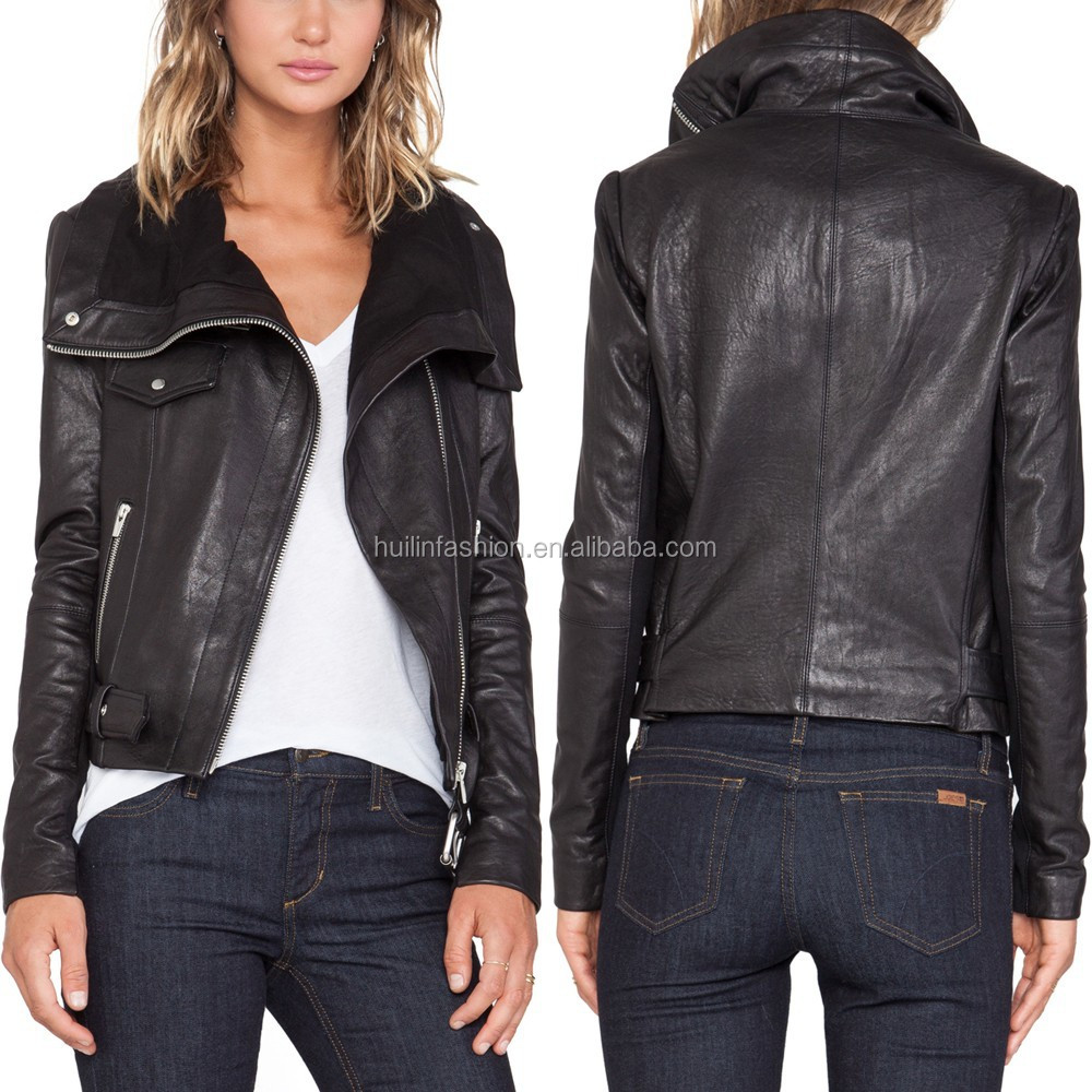 Women Sexy PU Jacket Faux Leather Jacket