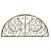 Wrought Iron Window, Metal Half Moon Window Grill, Antique Reproduction