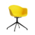 Nordic style fabric office furniture PP swivel chair alloy chair with wheels