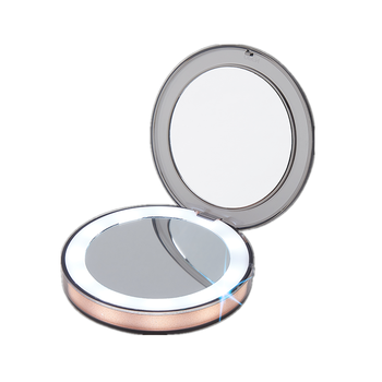 1X 3X Magnifying Travel Compact Pocket Mirror Lighted Makeup Mirror With Brightness Adjustable Led lights