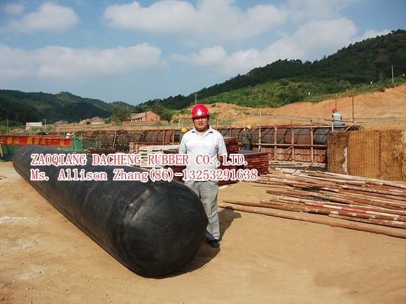 Inflatable Rubber Baloon Formwork For Culvert Construction 1200mm Diameter