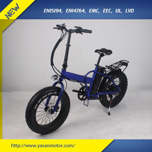 "Beach 350W Folding Eletric Bike With 20"" Fat Tire"