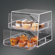 Transparent Lucite Storage Box for Dessert Store Custom Dessert Cookies Container Clear Acrylic Countertop Bakery Display Case