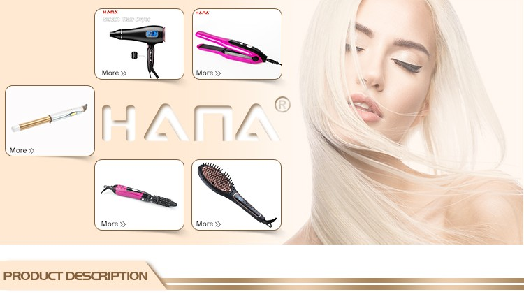 HANA high quality professional salon auto close rotation line steam Infrared heating hair straightener