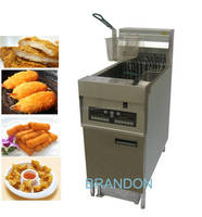 High quality electrical fryer with oil filter and latch lock ball-type drain valve
