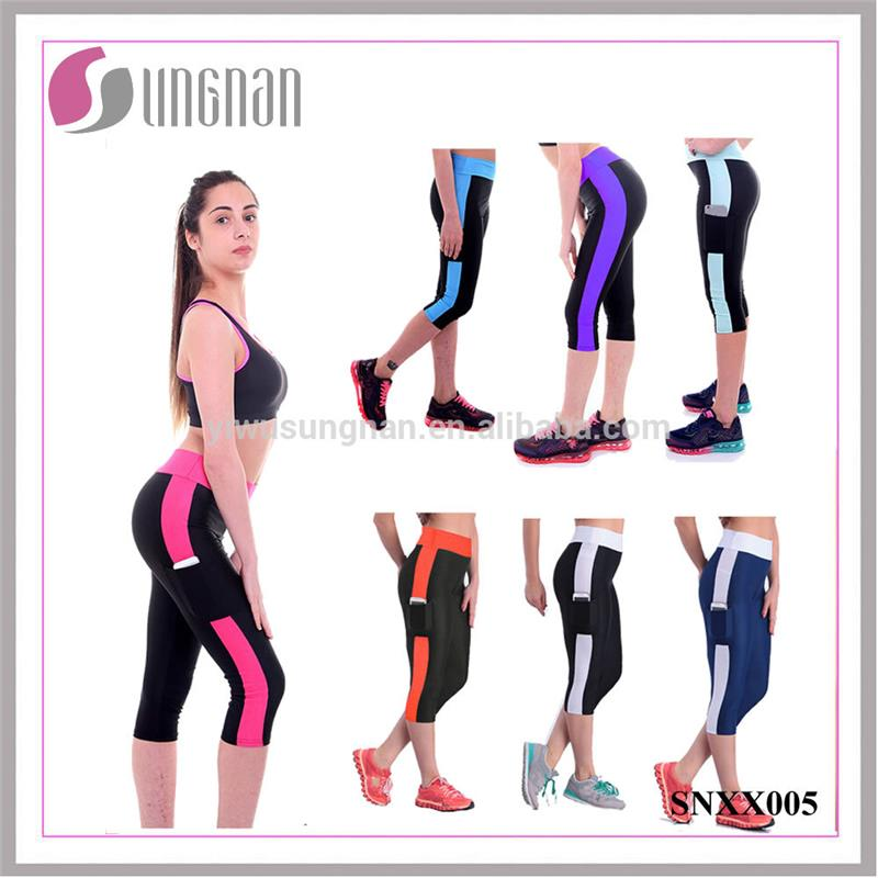 Hot Sale <strong>Women</strong> Comfortable Fitness Capri Pants Stretch Leggings