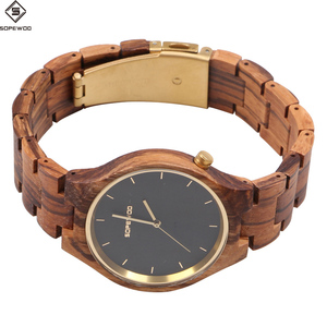 2018 hot selling quality custom brand OEM wood wrist watch minimalist wooden watches