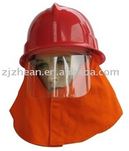 red fireman helmet/ safety helmet