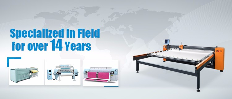 Automatic bed sheet needle punching machine