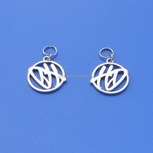 custom cut out logo metal charms pendant for wholesale