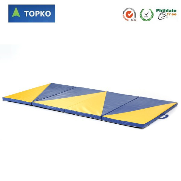 2016 high quality thick padding Gymnastics Mat with velcro fitness gym mat