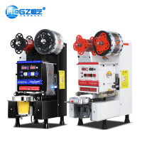Automatic Paper Plastic Cup Sealing Machine For Beverage Milk Tea Shop Equipment