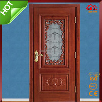 Single Main Kitchen Room Wood Glass Door Design