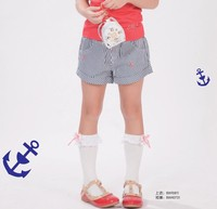 kids summer collection Stripes girls shorts for middle groups