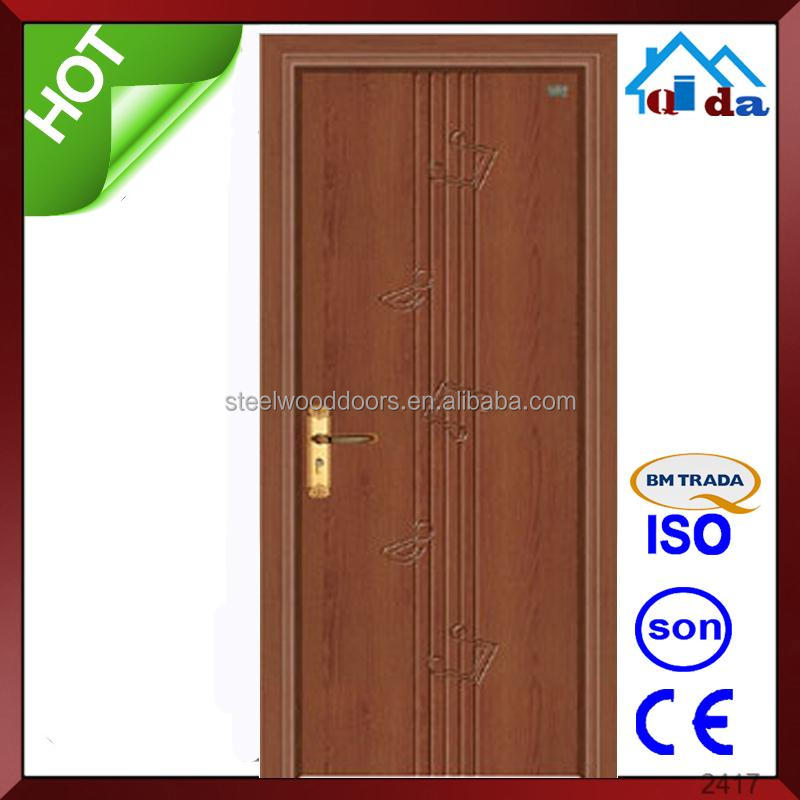 New Pvc Apartment safety wooden internal door design